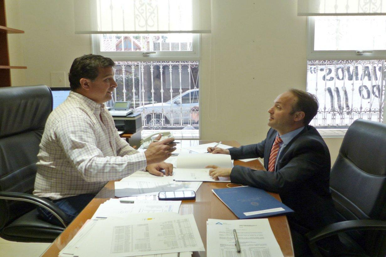 Casaretto (izquierda) anunció obra en Gualeguaychú