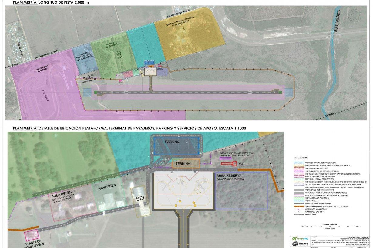La planimetría del proyecto para Concordia.