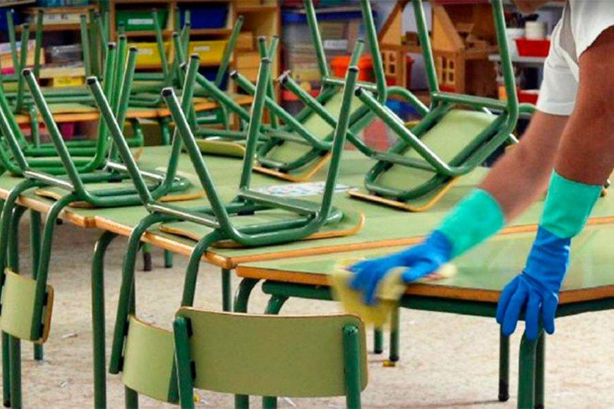 Desinfectan las escuelas donde hubo casos