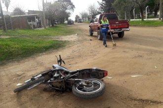 Graves lesiones sufrió una beba, que iba en una moto con otros 4 y chocaron contra una 4x4