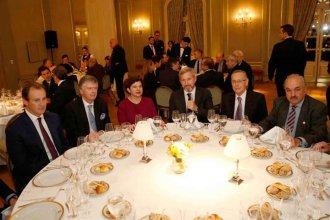Bordet y Frigerio, juntos en el Alvear por la cumbre del G20