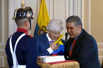 Pekerman fue homenajeado como un héroe por el presidente de Colombia