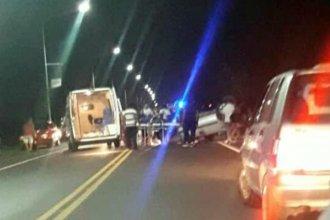 Vuelco en el acceso sur a Concordia: Una mujer falleció