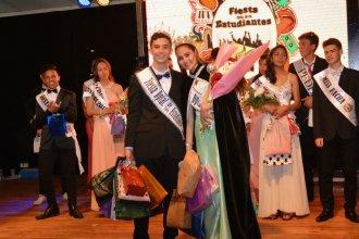 Fiesta departamental de estudiantes: Valentina y Bruno son los nuevos embajadores