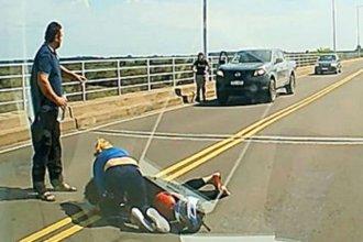 Un accidente de moto generó demoras en el puente internacional