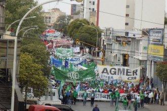 La Multisectorial protestó afuera de la Casa Gris en el marco del paro nacional