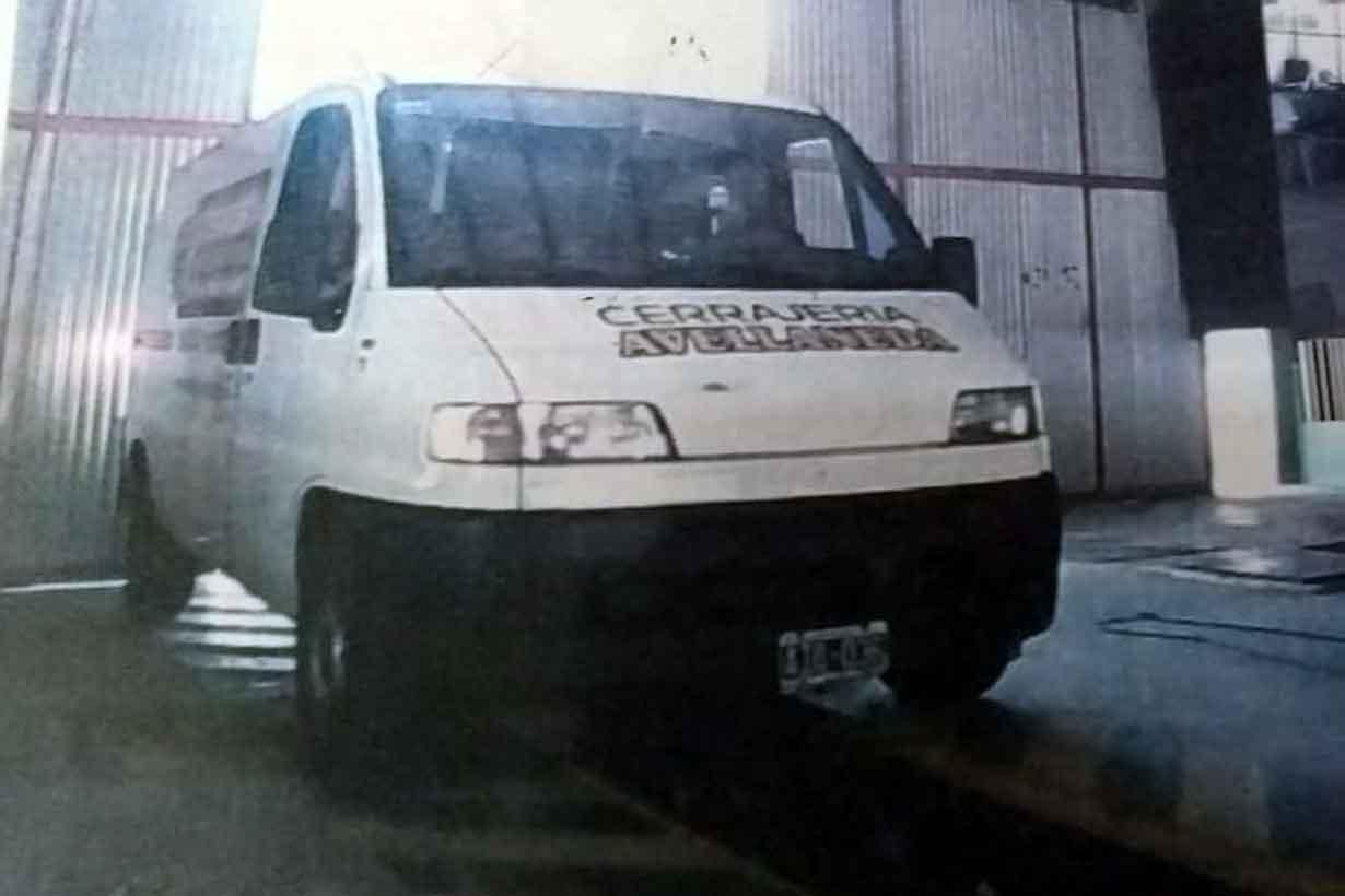 La camioneta presuntamente robada