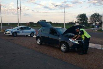 La Policía halló un auto robado en un operativo en Ruta 14