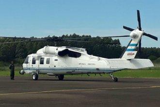 Sorpresivo aterrizaje del helicóptero presidencial en la costa del río Uruguay