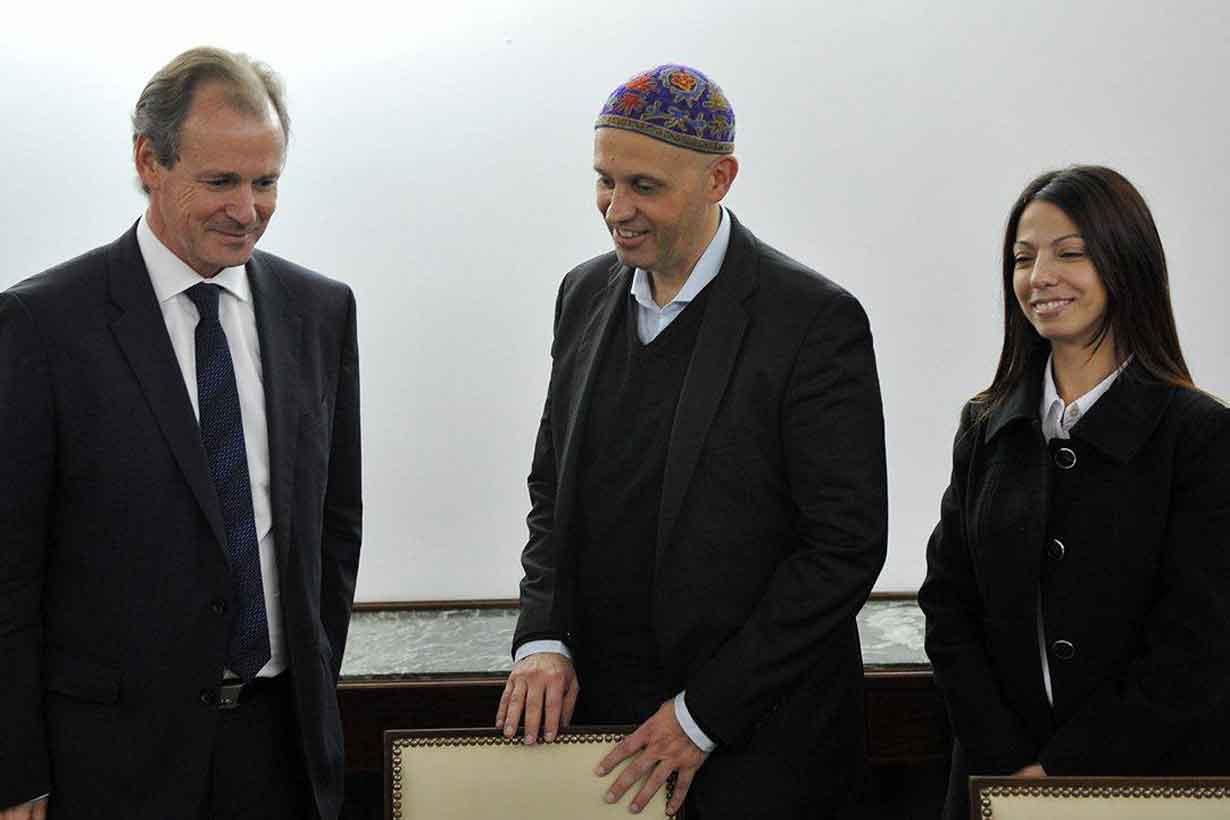 Belén Esteves, con Bordet y Bergman
