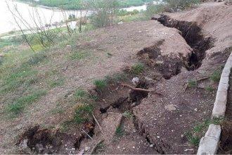 El Gobierno colaborará con el municipio de Diamante por el desmoronamiento de la barranca