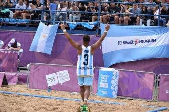 """Elogios al """"doble rol"""" del entrerriano que se destaca en el beach olímpico"""