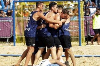 Medalla de bronce para los chicos de beach handball, tras vencer a Croacia