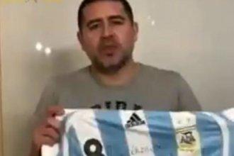 Sasia terminó su día de oro con un regalo especial de Juan Román Riquelme