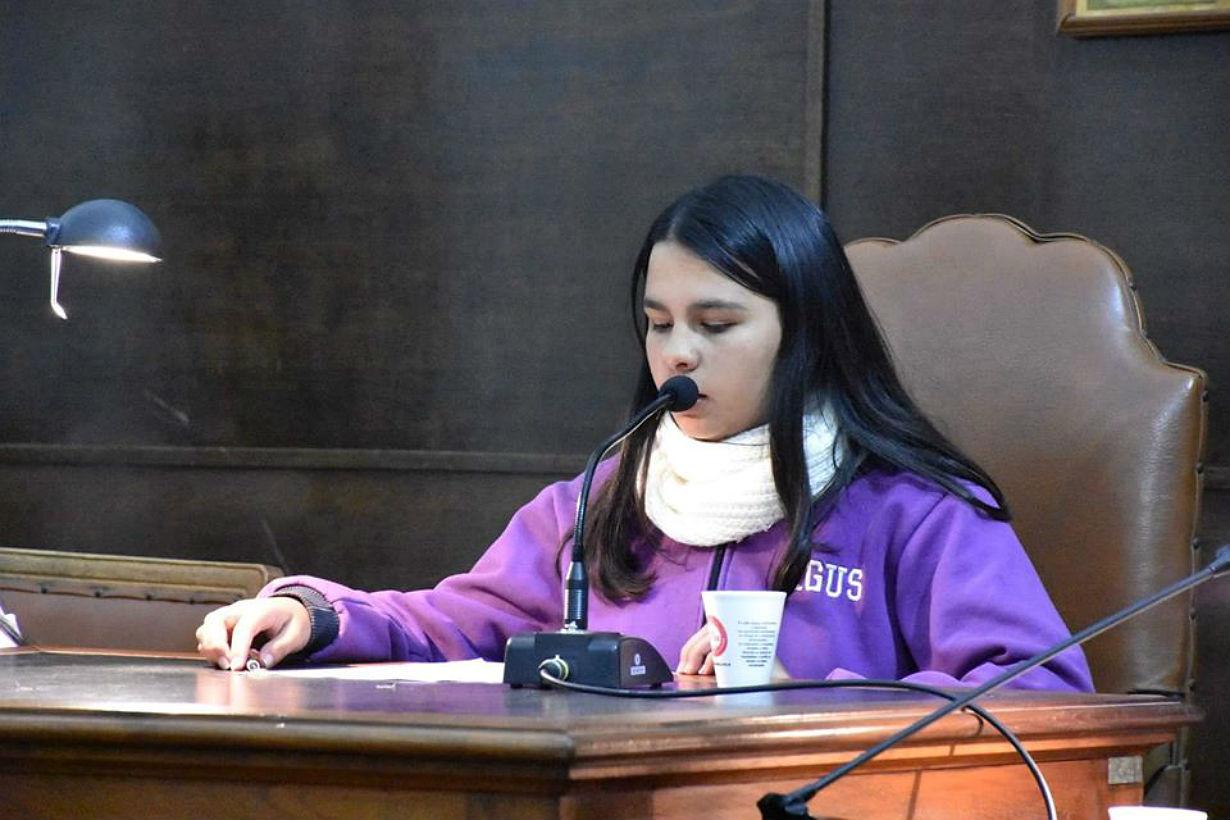 Agustina, presidente del HCD Juvenil