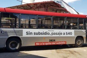 Ante la quita de subsidios, plotearon los colectivos como forma de protesta