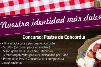 ¿Cuál es el postre que identifica a Concordia?