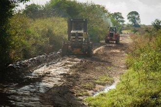 Obras de enripiado: firmaron contratos por 16 millones de pesos con tres empresas