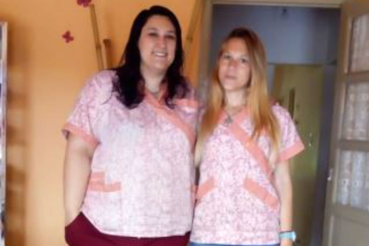Las Lic. Alejandra Hermann y Priscila Gnoatto.