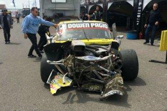 TC Pista: Así quedo el auto de un piloto entrerriano tras un accidente durante una prueba