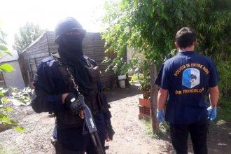 Tenían drogas, armas y dinero: La policía detuvo a 8 personas tras operativos en la provincia