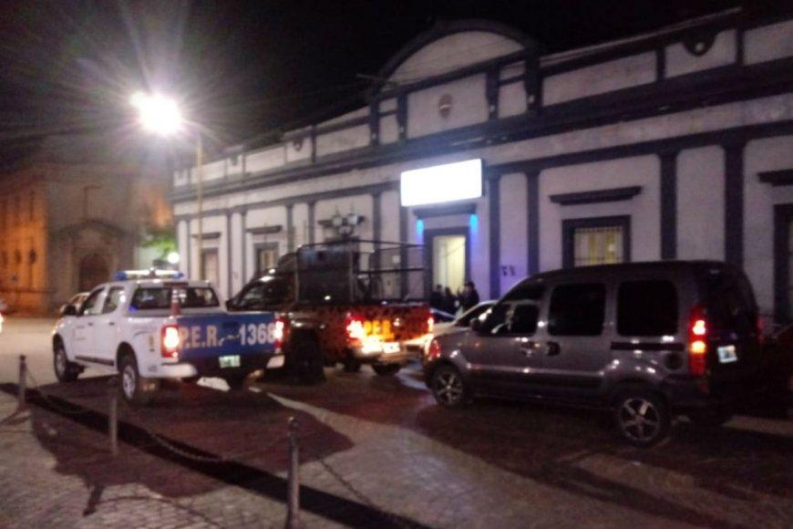 El allanamiento a la Jefatura de Villaguay.