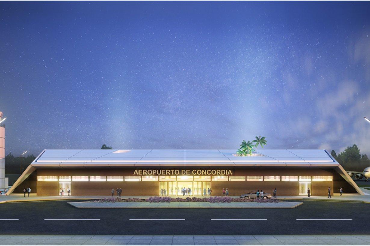 Maqueta del renovado aeropuerto