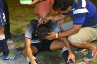 Una hincha le quemó la cara con agua caliente a un futbolista entrerriano
