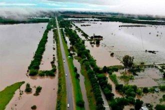 Las imágenes de Nogoyá cercada por el agua impactaron en la TV nacional