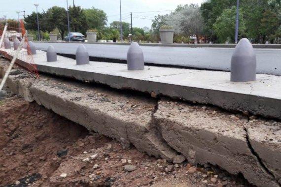 "A tres días de ser habilitada, restringieron obra de acceso por ""problemas de construcción"""