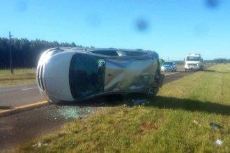 Unas gotas de café desencadenaron violento vuelco en Ruta 14