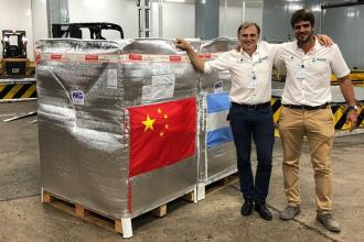 El primer embarque de arándanos frescos argentinos a China es entrerriano