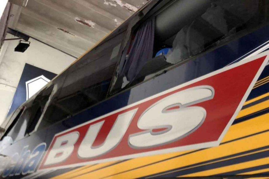 Así quedó el colectivo de Flecha Bus