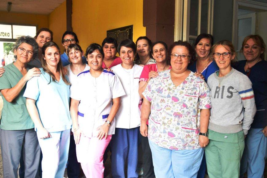 Enfermeras del San Benjamín (foto: Rubén Coman)