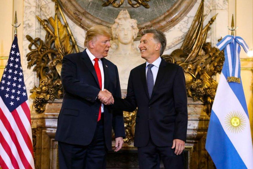 Trump estuvo 45 minutos hoy en la Rosada con Macri