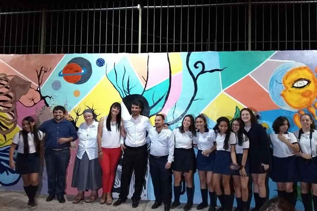 El mural de la escuela Jesús Nazareno