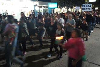 """El pedido de """"Ni una menos"""" se sintió en Chajarí, por el crimen de Soledad Monge"""
