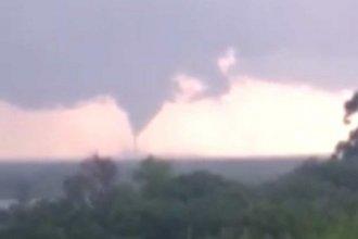 Registraron la formación de un tornado en Entre Ríos