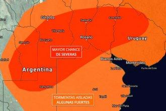 "Entre Ríos vuelve a entrar en alerta por ""tormentas severas"""