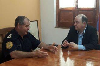 Tras los incidentes en el fútbol departamental, Monfort y el jefe de Policía analizaron el proyecto de ley de barras