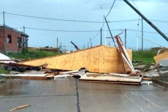 El temporal destruyó viviendas y un jardín de infantes en localidad entrerriana