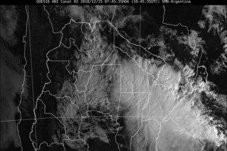 """El norte entrerriano sigue bajo alerta por tormentas """"fuertes o severas"""""""