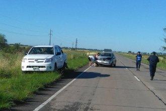 Cordobés chocó de atrás a una Hilux, en plena ruta nacional 127