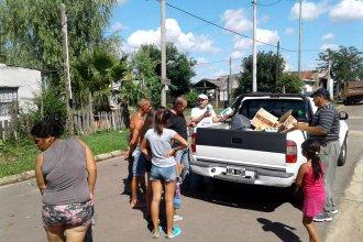 Organizaron una movida navideña para llevar alegría a barrios postergados de la ciudad