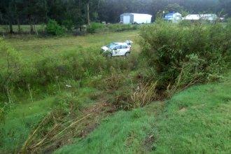 En una mañana lluviosa, paraguayo despistó en la autovía Artigas