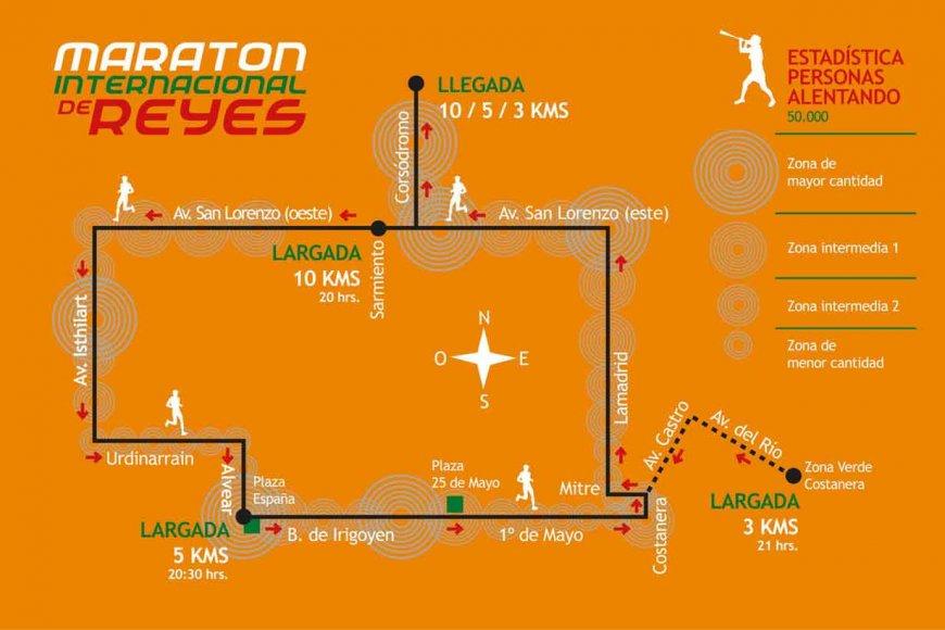 El recorrido del Maratón de Reyes