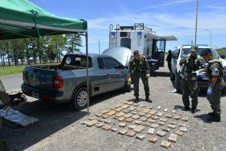 Misionero circulaba por Entre Ríos con más de 90 kilos de marihuana en el auto