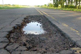 El estado ruinoso de la ruta provincial 23