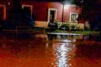 Gran parte de un pueblo entrerriano, nuevamente afectado por las intensas lluvias