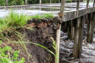 Una localidad uruguaya podría quedar aislada por la rotura de un puente